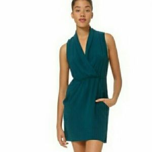 Wilfred Sabine Faux Wrap Dress Peacock Color